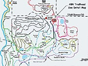 New ABR Trails cross country ski trail map